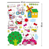 B Vinil Decorativo De Hello Kitty P/ Habitación Infantil