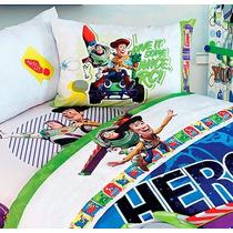 Set De Sábanas Toy Story Individual Hd + Funda