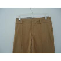 Pantalon Zara Basic Acampanado Liso Color Moztaza