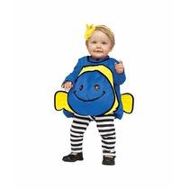 Disfraz De Pez Azul Para Bebes Envio Gratis