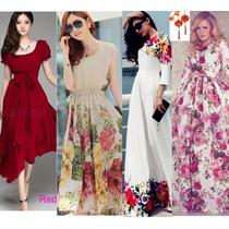 Moda Japones Oriental Asia Vestido Largo Maxidres Env Gratis