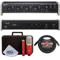 Interface De Audio Tascam 4x4 Usb + Microfonos Mxl + Cables
