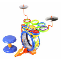 Set De Juegos Bateria Musical Infantil Electrica Dj Drum