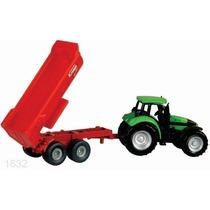 Siku Tractor Con Volteo Caja 1/64 Aprox. Diecast Metal