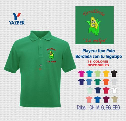24711ad9addfa Playera Tipo Polo Bordada Con El Logo De Negocio Ped 12 Pzas. Precio    110  Ver en MercadoLibre