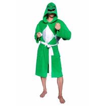Pijama / Bata De Power Ranger Verde Para Damas / Adultos