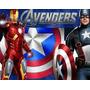 Kit Imprimible Los Vengadores Avengers Diseña Tarjetas 2x1