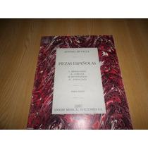 Vendo Libro De 4 Piezas Españolas Partituras Para Piano Solo