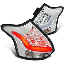 Calaveras Led Cromadas Para Ford Focus Hatchback 2012 - 2014
