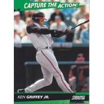 2000 Stadium Club Capture Action Ken Griffey Jr Reds