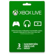 3 Meses Gold Xbox Live Entrega Inmediata Por Correo / Whats