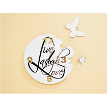 Reloj De Pared Mariposas Minimalista Diseños Exclusivos