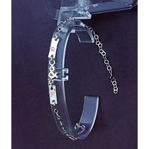 Personaliza Grabacion Pulsera Esclava J&m Style Plata Ley