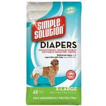 Solución Simple X-large Pañales Desechables Para Perros