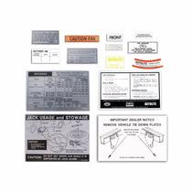 Mustang 71 Juego Etiquetas Informativas