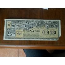 Billete Boleto Lottery Of Beneficencia Pública 1903 México