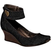 Zapatos Iza 200 Mezclilla Negro Tacon 5 Cm Pv