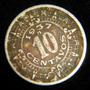 Moneda 10 Centavos 1937 Calendario Azteca Niquel