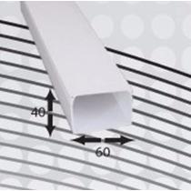 Canaleta Pvc 21 A 25 Cables 60mm X 40mm X 2m 1 Vía Autoext