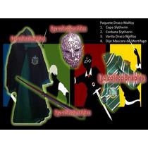 Paquete Draco Malfoy Capa Varita Slytherin Harry Potter Igo!