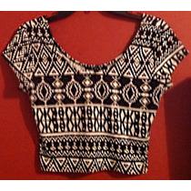 Minivestido 2 Piezas Crop Top Tribal Vintage Falda Circular