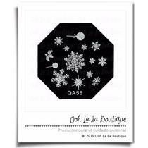 Disco Placa Estampado Uñas Copos Nieve Qa58 #0141