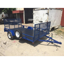 Remolque Cama Baja Plataforma Rzr Cuatrimotos Camioneta Mty