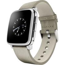 Nuevo Reloj Pebble Time Steel Para Apple Y Android