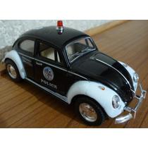 Volkswagen Beetle Sedan Vocho Patrulla Escala 1/32 Kinsmart