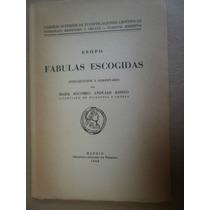 Esopo Fabulas Escogidas En Griego España 1942