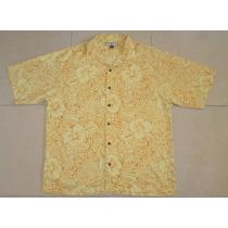 Tommy Bahama Camisa Hawaiiana Talla Grande / Xl 100% Seda