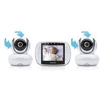 Motorola Monitor De Vídeo Bebé Con 2 Cámaras 3,5 Pulgadas De