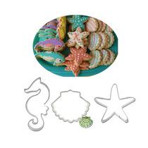 Cortadores De Galletas Caballito, Estrella De Mar, Concha