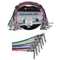 Joyo Patch Cables Para Pedales Pack De 6 Cables Conector L