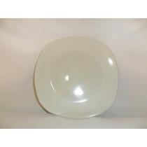 Cuadrado Platotrinche De Loza 25.5 Cm Color Blanco