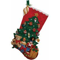 Bucilla Original. Bota Navideña Under The Tree. Navidad