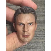 Cabeza Custom Steve Rogers Capitan America 1/6 No Hot Toys
