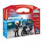 Playmobil 5648 Maletin D Policia Con Moto Rescate Retromex