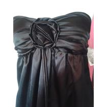 Trapitos Vestido Negro Fiesta O Coctel Talla Mediano