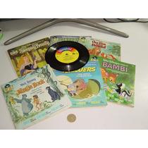 Cuentos De Walt Disney Con Disco ( 6 ) De Colección Bambi