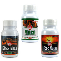 Maca Normal, Red Y Black Capsulas Certificada