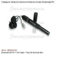 Electrodo De Ph + 3m Cable + Tipo De Enchufe Bnc