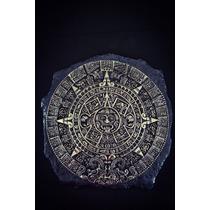 Figura Decorativa Calendario Azteca Plata 999 Electroformado