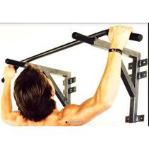 Barra Para Dominadas De Uso Rudo 400kg Soporte Costal Box