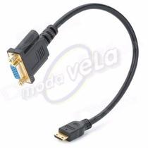 Aptador Cable Mini Hdmi Macho A Vga 15 Pines Hembra Tablet