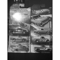 Set De 6pzas Camionetas Hot Wheels Datsun,chevy Y Ford