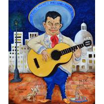 El Mariachi Chon Oleo Original Kinkin Guitarron Mexico Music