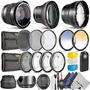 Kit Profesional 58mm Accesorio Para Canon Eos Rebel Dslr Bun