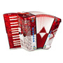 Acordeon Hohner Anacleto Teclas Latino 30/48 Red