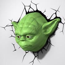 Star Wars Yoda Jedi Lampara 3d Preventa The Force Awakenes